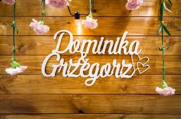 Drewniana ścianka dla Dominiki i Grzegorza – Hotel Kazimierzówka Wellness & Spa Kazimierz Dolny